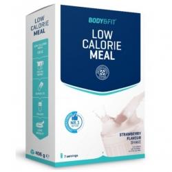 Nízkokalorické proteínové jedlo JAHODA 7 porcií Body&Fit 406g
