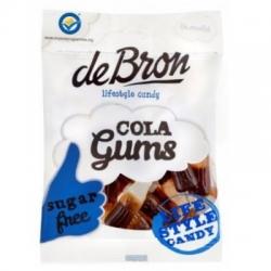 Gumové bonbóny COLA bez cukru De Bron