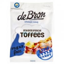 Ovocné cukríky Toffee bez cukru De Bron