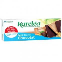Máslové sušenky bez cukru polité čokoládou Karéléa