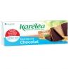 Maslové sušienky bez cukru poliate čokoládou Karéléa