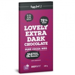Lovely extra dark chocolate pure cacao nibs 72% Body&Fit