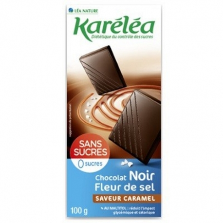 Čierna čokoláda bez cukru s karamelovou príchuťou Karéléa