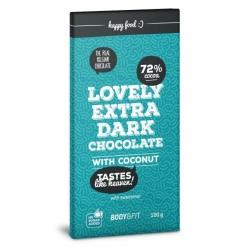 Čierna čokoláda bez cukru s kokosom 72% Body&Fit