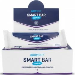 Chrumkavá tyčinka biela čokoláda-arašidy-karamel Smart Bars Crunchy 45g