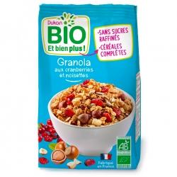 Granola s brusinkami a lískovými oříšky Dukan Bio