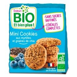 Mini cookies s borůvkami a chia Dukan Bio