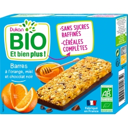 Tyčinky s pomerančem, medem a kousky čokolády Dukan Bio