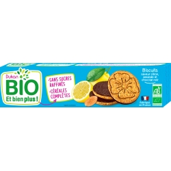 Citronové sušenky s madly polité čokoládou Dukan Bio
