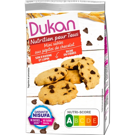 Mini sušienky Dukan s kúskami čokolády