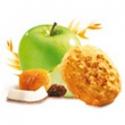 Mäkký bielkovinový koláčik musli-pomarančový kvet