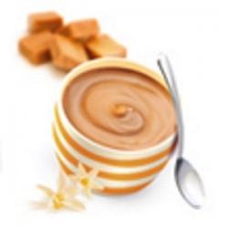 Bielkovinový puding karamel-vanilka