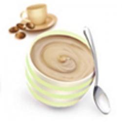 Bielkovinový kávový puding v kelímku