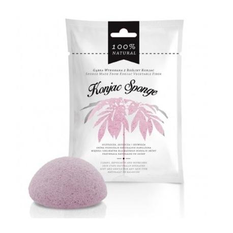 Ružová Konjacová špongia na tvár - 100 % prírodná