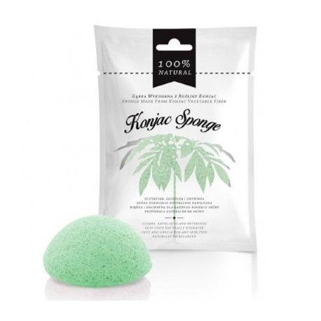 Zelená Konjacová špongia na tvár - 100 % prírodná