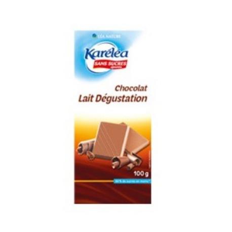 Mliečna čokoláda bez cukru Karéléa