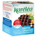Wafle poliate čiernou čokoládou bez pridaného cukru Karéléa