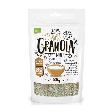 GRANOLA BIO chrumkavá s orieškami a semienkami