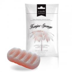 Ružová konjacová špongia na telo - 100% prírodná