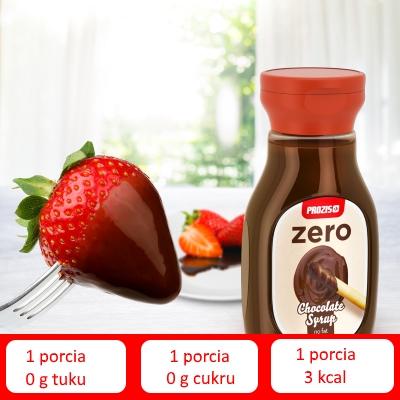 čokoládový sirup zero 0% cukru a tuku